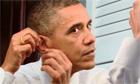 Barack Obama as Daniel Day-Lewis (ear)