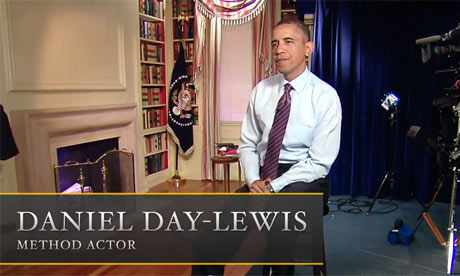 Barack Obama Plays Daniel Day-Lewis Playing Barack Obama