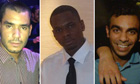 Grant Cameron, Karl Williams and Suneet Jeerh, British men on trial in Dubai on drugs charges