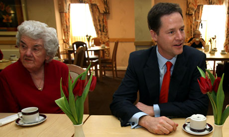 Nick Clegg and pensioner