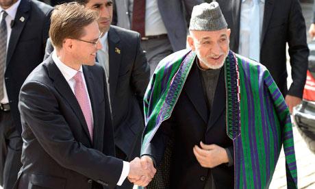Hamid Karzai in Helsinki