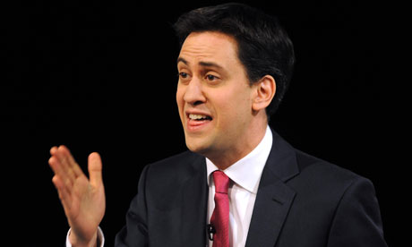 Ed Miliband talking