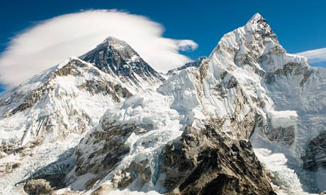 Mount everest and lhotse