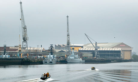 BAE Systems shipyard on the Clyde in Glasgow