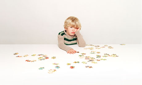 Boy with puzzle