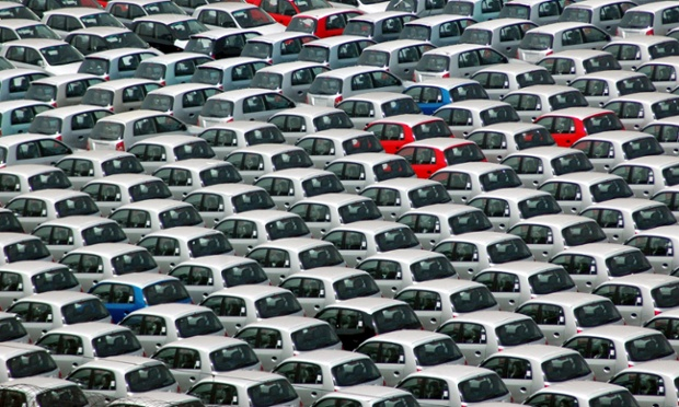 Do you have one in green? Hyundai cars in the south Indian port of Chennai ready for shipment.