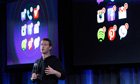 Mark Zuckerberg at Facebook phone launch