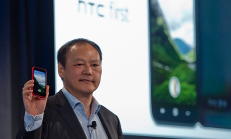 HTC's Peter Chou officially unveils the new HTC First phone loaded with the new Facebook platform.