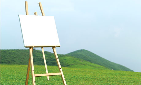 Empty Canvas in Countryside
