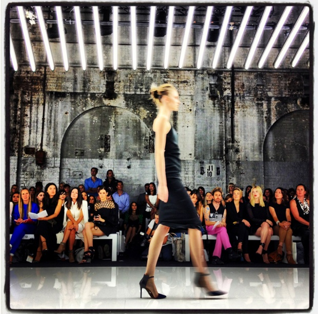 Getty Images photographer has gone all Instagram or something in this image from the Bec and Bridge show during Mercedes-Benz Fashion Week Australia Spring/Summer 2013/14 at Carriageworks in Sydney, Australia.