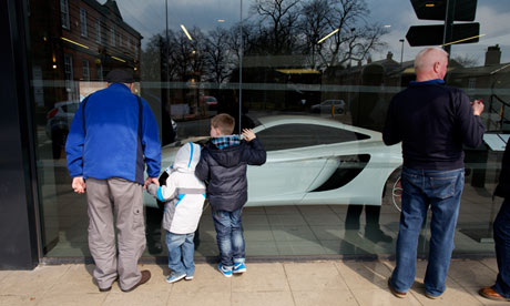 The McLaren luxury car dealership in Knutsford