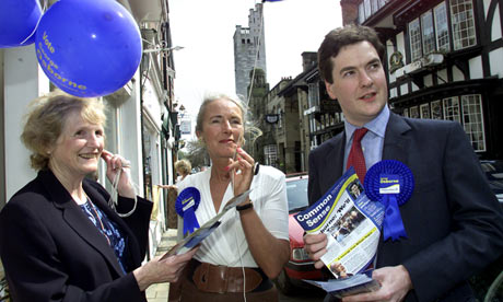 George Osborne campaigning in Knutsford in 2001.
