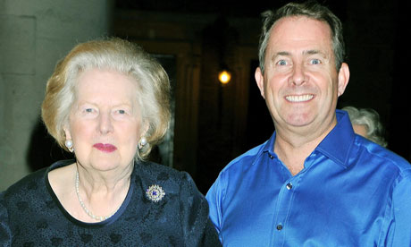 Margaret Thatcher and Liam Fox