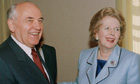 Mikhail Gorbachev and Margaret Thatcher in 1993