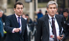 Andy Hornby, left, former chief executive officer of HBOS Pl