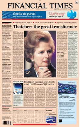 Financial Time front page