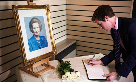 Book of condolence for Margaret Thatcher