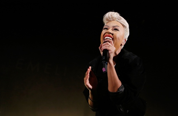 Emeli Sande performs live on stage at Hammersmith Apollo in London, England. Photograph: Simone Joyner/ Getty Images