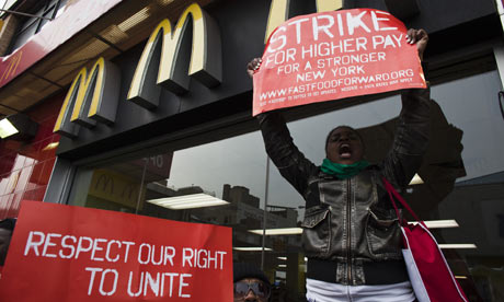 Fast food workers protest 008 Life in the United States of America