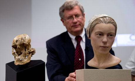 reconstrucción del cráneo de Jamestown