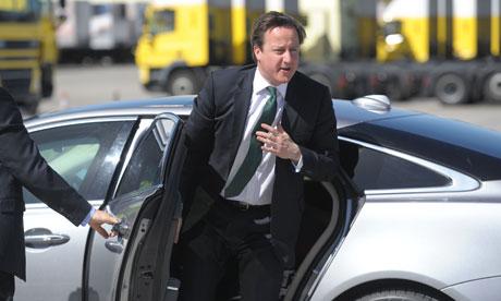 David Cameron car