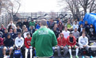 Hopefuls attend the New York Cosmos' tryouts in Queens