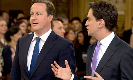 David Cameron and Ed Miliband on their way to listen to the Queen's speech