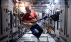 Commander Chris Hadfield covers Space Oddity.