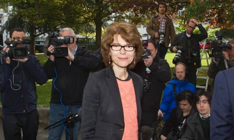 Vicky Pryce looks relieved to be returning to her home in Clapham, London, after her release from prison.