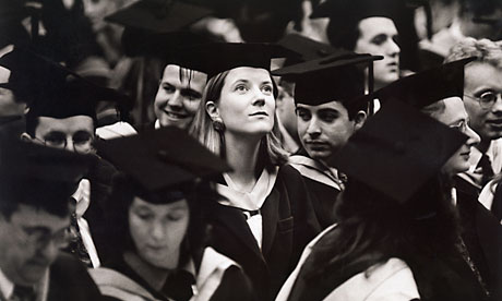 Graduation ceremony at Brighton University in the 1980s