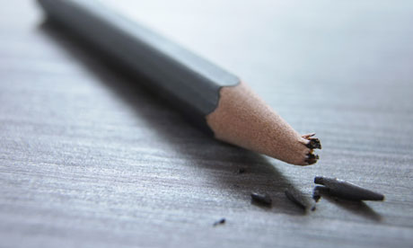 Pencil with broken lead. Image shot 2006. Exact date unknown.