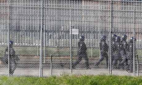 Riot police at the Villawood detention centre in 2011