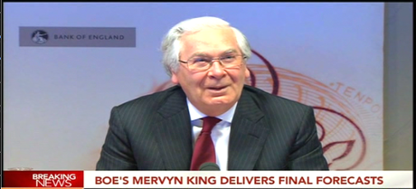 Mervyn King, at his final inflation report