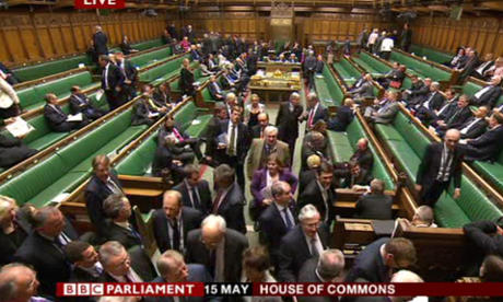 MPs voting on the EU referendum amendment