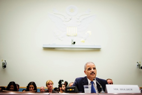Attorney General Eric Holder testifies before the House Judiciary Committee on Wednesday on Capitol Hill.