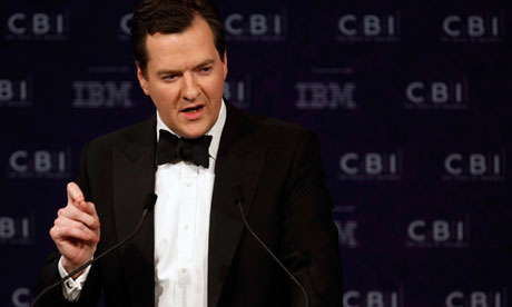 George Osborne speaks at CBI annual dinner