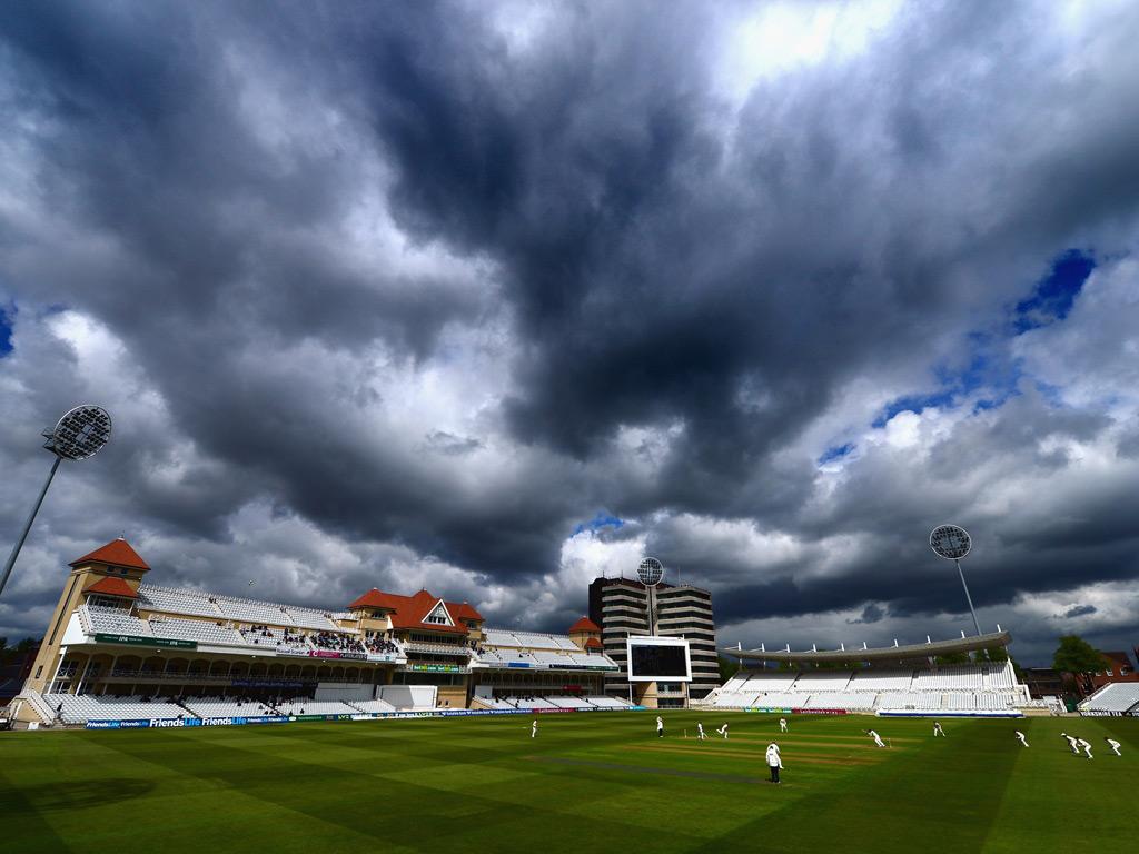 Nottinghamshire v Surrey - Clouds gather over Trent Bridge