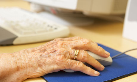 Older person using computer