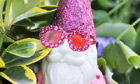 A garden gnome painted by Elton John at the Chelsea flower show