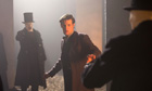 Shhhhh! Matt Smith in The Name of the Doctor. Photograph: Adrian Rogers/BBC