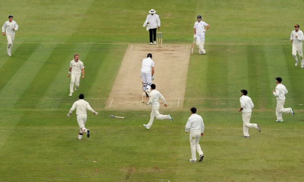 New Zealand's Neil Wagner celebrates taking the wicket of England's Nick Compton at Lord's.