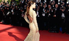 Red carpet glamour: Eva Longoria poses for the cameras