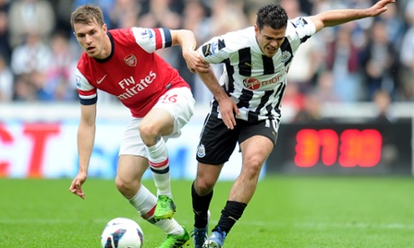 Hatem Ben Arfa and Aaron Ramsey