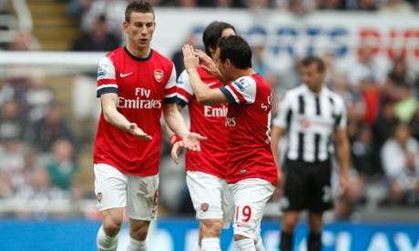 Laurent Koscielny and Santi Cazorla