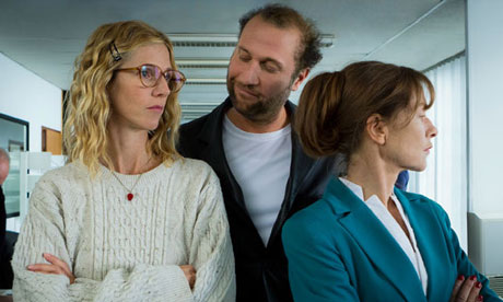 Sandrine Kiberlain, Fran&ccedil;ois Damiens and Isabelle Huppert in Tip Top