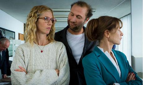 Sandrine Kiberlain, François Damiens and Isabelle Huppert in Tip Top