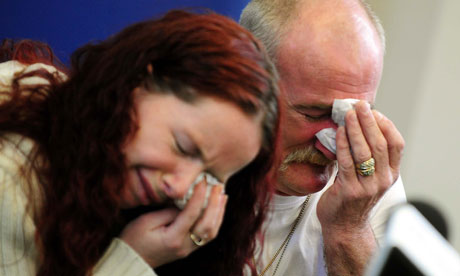 Mairead and Mick Philpott at a press conference in Derby