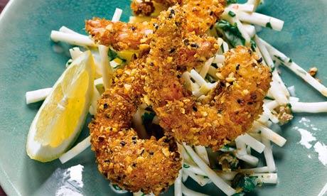 Yotam Ottolenghi's crispy prawns with celeriac and coriander remoulade