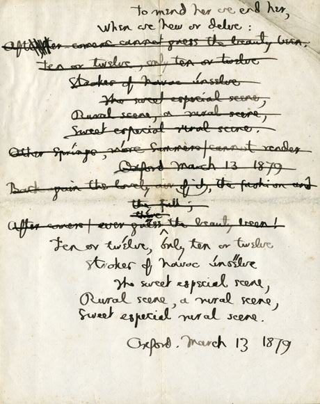the analysis of poetry by gerard manley hopkin s carrion comfort Rope imagery in the later poems of gerard manley hopkins  namely spelt from  sibyl's leaves, no worst, there is none the soldier, and carrion comfort.