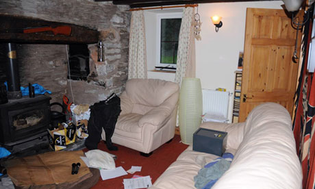 The living room in the home of Mark Bridger who is on trial for the murder of April Jones